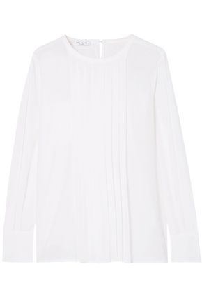 EQUIPMENT Marilla pleated washed-silk top