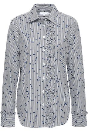 EQUIPMENT Jesper ruffled printed cotton-poplin shirt