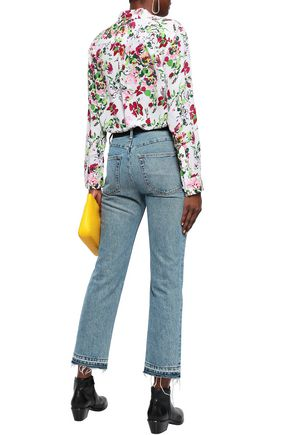 EQUIPMENT Signature floral-print washed-silk shirt