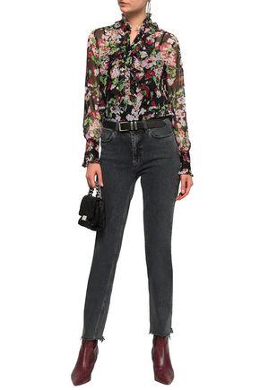 721700838e4f7d EQUIPMENT Ruffle-trimmed floral-print silk-chiffon blouse