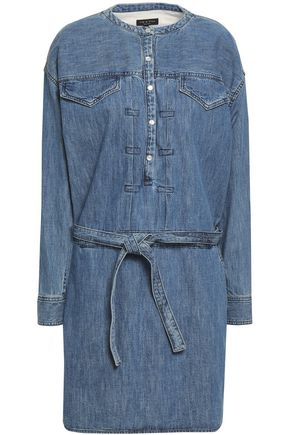 RAG & BONE Belted denim mini dress