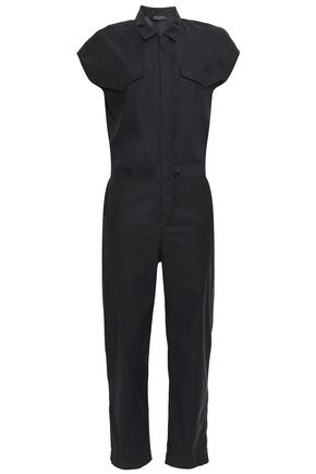RAG & BONE Cropped poplin jumpsuit