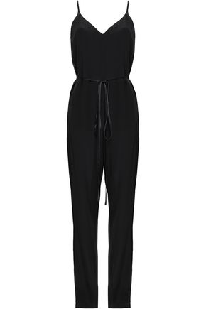 RAG & BONE Rosa silk-satin and crepe jumpsuit