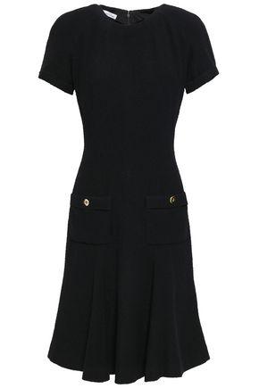 OSCAR DE LA RENTA Fluted wool-blend bouclé dress