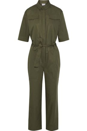 IRIS & INK Bethan cotton-twill jumpsuit