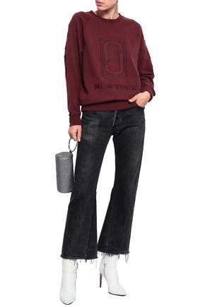 MARC JACOBS Appliquéd French cotton-terry sweatshirt