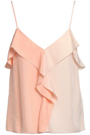 RAG & BONE Posta ruffled two-tone twill camisole