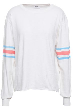 RE/DONE by LEVI'S Striped cotton-jersey top