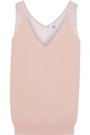 IRIS & INK Daisy paneled stretch-knit tank