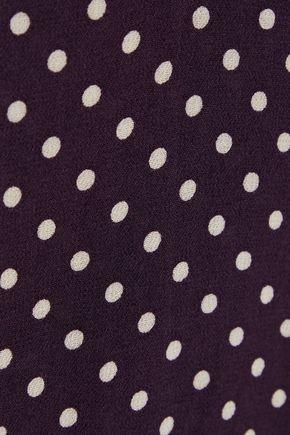 ZIMMERMANN Pussy-bow polka-dot crepe de chine blouse