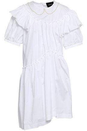 SIMONE ROCHA Embellished cotton-poplin dress
