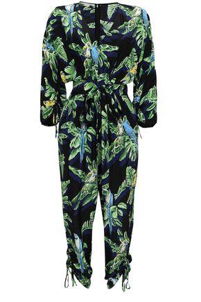 STELLA McCARTNEY Printed silk crepe de chine jumpsuit b769fbf2a