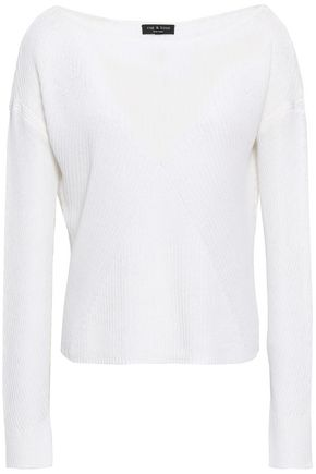 RAG & BONE Ribbed cotton-blend top