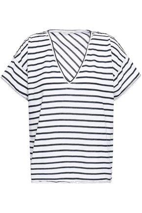 RAG & BONE Dakota striped cotton-blend jersey T-shirt