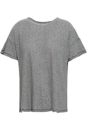 RAG & BONE Striped linen and modal-blend T-shirt