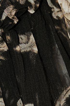 ZIMMERMANN Maples printed silk-georgette top