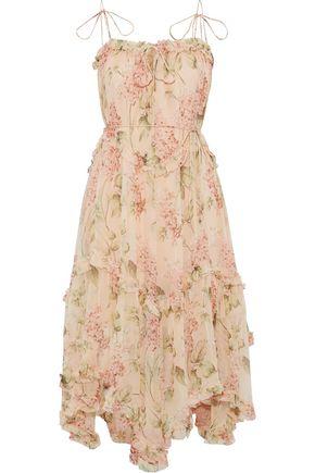 ZIMMERMANN Prima Hydrangea Floating floral-print silk-georgette midi dress