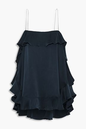 ZIMMERMANN Ruffled washed-silk camisole
