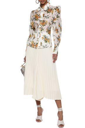 ZIMMERMANN Floral-print linen and silk-blend shirt