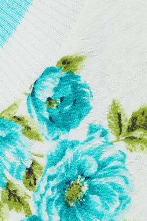 ZIMMERMANN Whitewave floral-print linen and cotton-blend T-shirt
