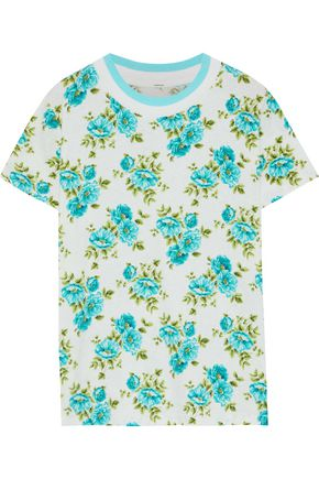 ZIMMERMANN Whitewave floral-print linen and cotton-blend T-shirt