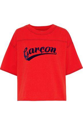 CURRENT/ELLIOTT The Kelton flocked cotton-jersey T-shirt