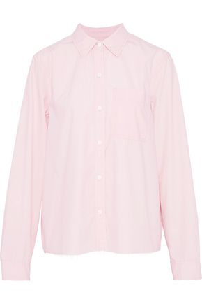 CURRENT/ELLIOTT The Ivie cotton-poplin shirt