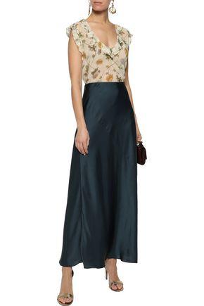 ZIMMERMANN Ruffle-trimmed floral-print silk-gauze top