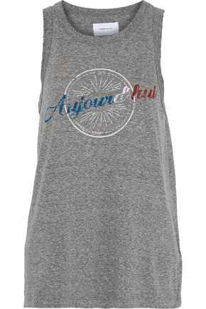 CURRENT/ELLIOTT The Easy Muscle printed jersey tank