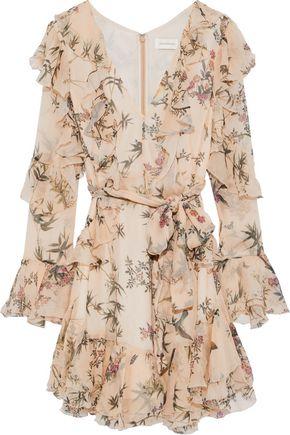 ZIMMERMANN Folly Flutter floral-print silk-georgette mini dress