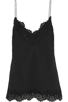 ZIMMERMANN Corded lace-trimmed satin camisole