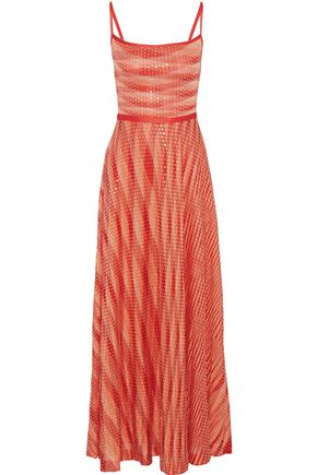 MISSONI Sequined crochet-knit maxi dress