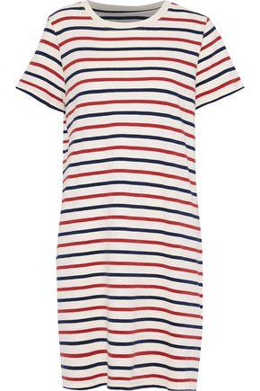 CURRENT/ELLIOTT The Beatnik striped cotton-jersey mini dress