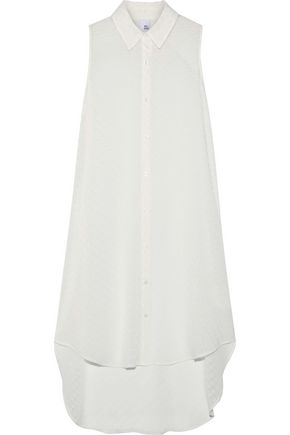 IRIS & INK Adriana fil coupé georgette shirt dress