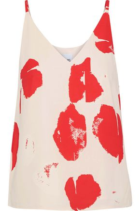 IRIS & INK Elliana printed crepe de chine camisole