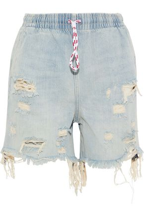 ALEXANDERWANG.T Distressed denim shorts