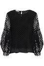 OSCAR DE LA RENTA Cotton guipure lace blouse