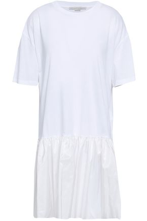 STELLA McCARTNEY Cotton-jersey and taffeta mini dress
