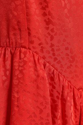 STELLA McCARTNEY Ruffled silk-jacquard peplum midi dress