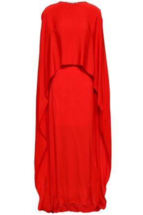 STELLA McCARTNEY Cape-effect crepe gown