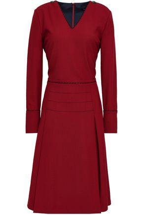 PIAZZA SEMPIONE Pleated twill dress