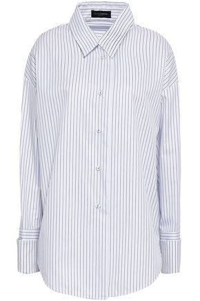 PIAZZA SEMPIONE Oversized striped cotton-poplin shirt