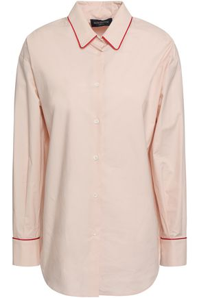 PIAZZA SEMPIONE Stretch cotton-poplin shirt