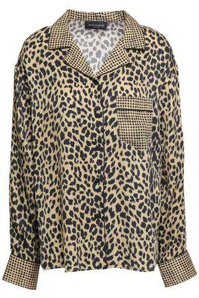 PIAZZA SEMPIONE Leopard-print twill shirt
