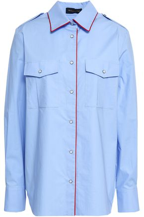 PIAZZA SEMPIONE Stretch-cotton poplin shirt