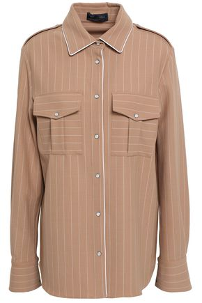 PIAZZA SEMPIONE Pintstriped twill shirt