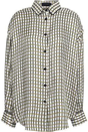 PIAZZA SEMPIONE Silk-jacquard shirt