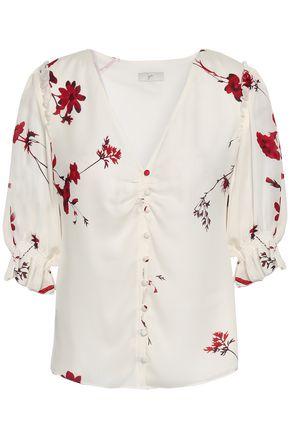 JOIE Floral-print silk crepe de chine blouse