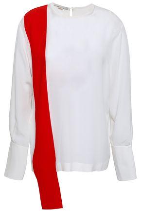 20c20380082 STELLA McCARTNEY Two-tone draped silk crepe de chine top