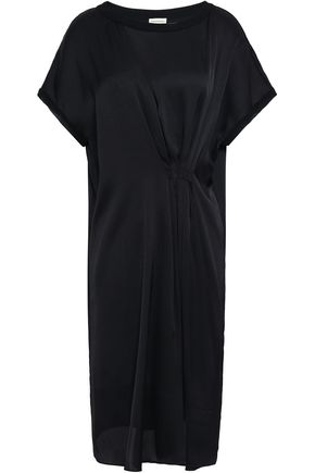 BY MALENE BIRGER Gathered satin dress